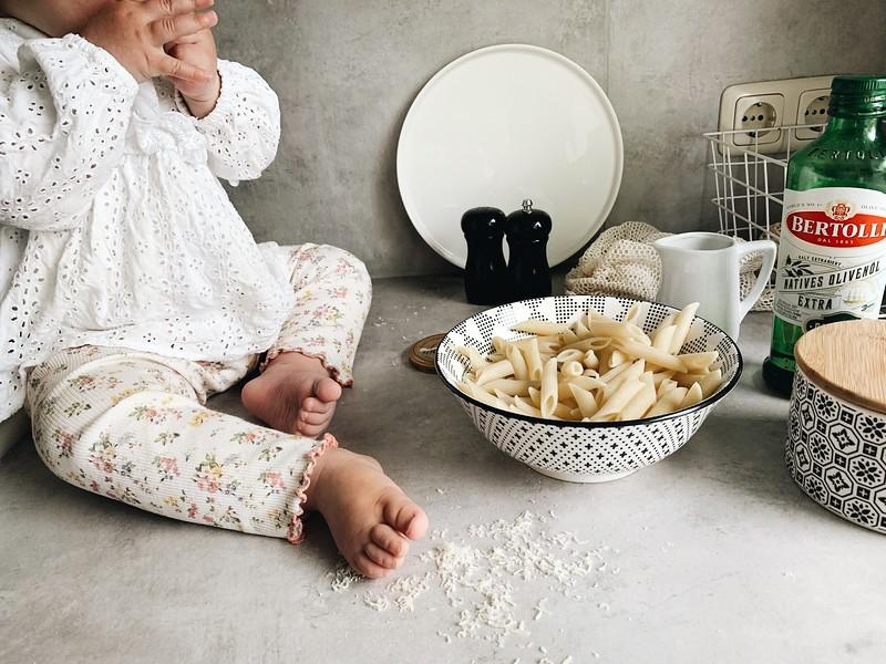 Gut für´s Herz und Kinderliebling: Pasta mit Olivenöl und Parmesan